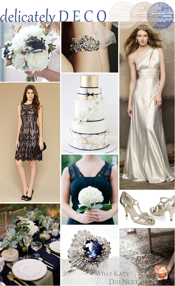 Art Deco & Navy Wedding Inspiration