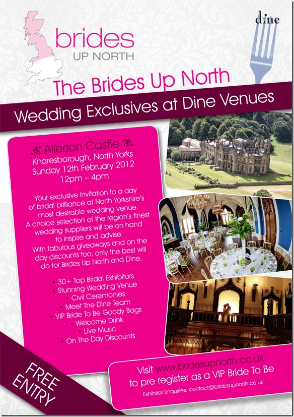 Brides Up North Wedding Exclusive at Allerton Castle