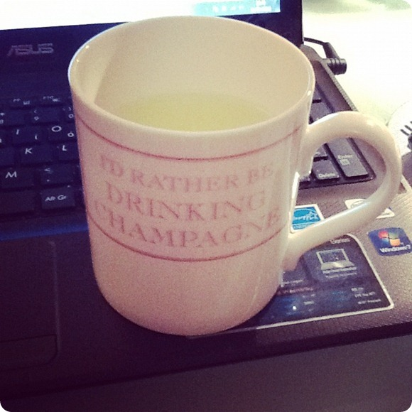 Lemsip, not Champagne, unfortunately.