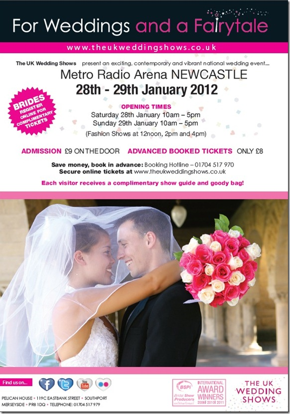 The UK Wedding Shows Newcastle Metro Arena 2012