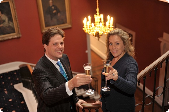 L-R Managing Director of Dine Daniel Gill with Sarah Beeny