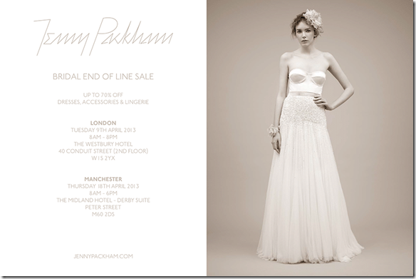 Jenny Packham Bridal End Of Line Sale