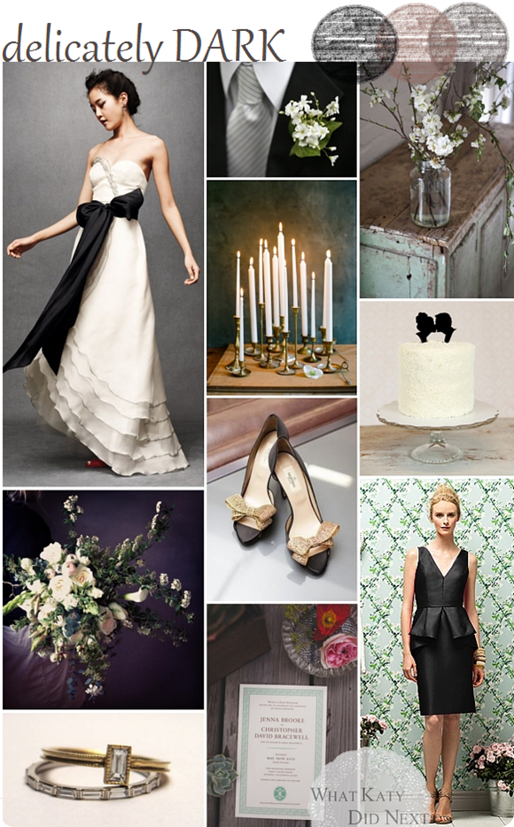 Delicately Dark Wedding Inspiration
