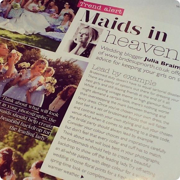 Brides Up North UK Wedding Blog in Wedding Magazine