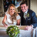 mori lee for an indie wedding at ripley castle wedding (c) James Tracey Photography (18)