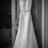 mori lee for an indie wedding at ripley castle wedding (c) James Tracey Photography (2)