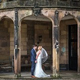 mori lee for an indie wedding at ripley castle wedding (c) James Tracey Photography (36)