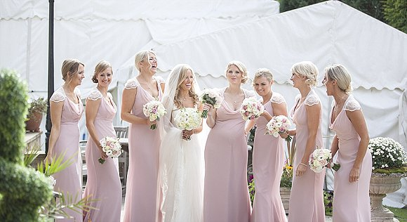 Phillipa Lepley for a pretty pink marquee wedding at home (c) Sean Elliott Photography (14)