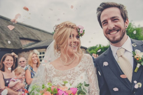 flower power. maggie sottero for a dreamy rural barn wedding in Yorkshire – amy & andy