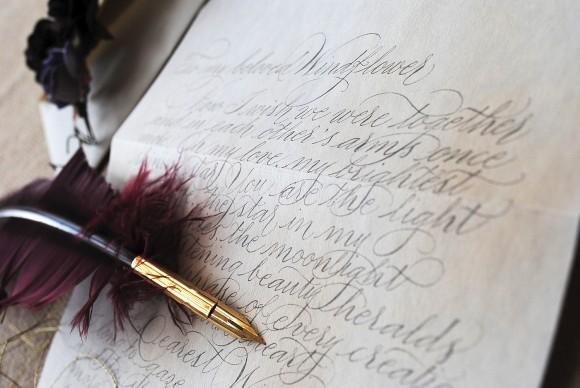Calligraphy 4 vintage love letter (2)
