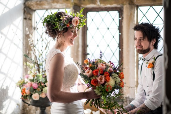 a fairytale styled bridal shoot at Bolton Castle by JB Creatives (1)