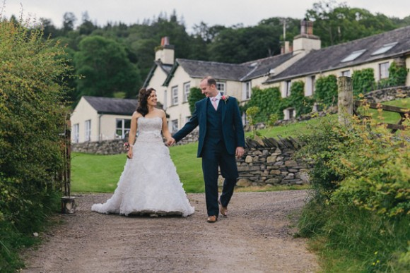 rustic burlap and vintage lace for a lively Lake District wedding – amanda & ben
