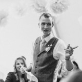 vintage lace for a lively Lake District wedding (c) James Stewart Photography (55)