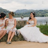 vintage lace for a lively Lake District wedding (c) James Stewart Photography (57)