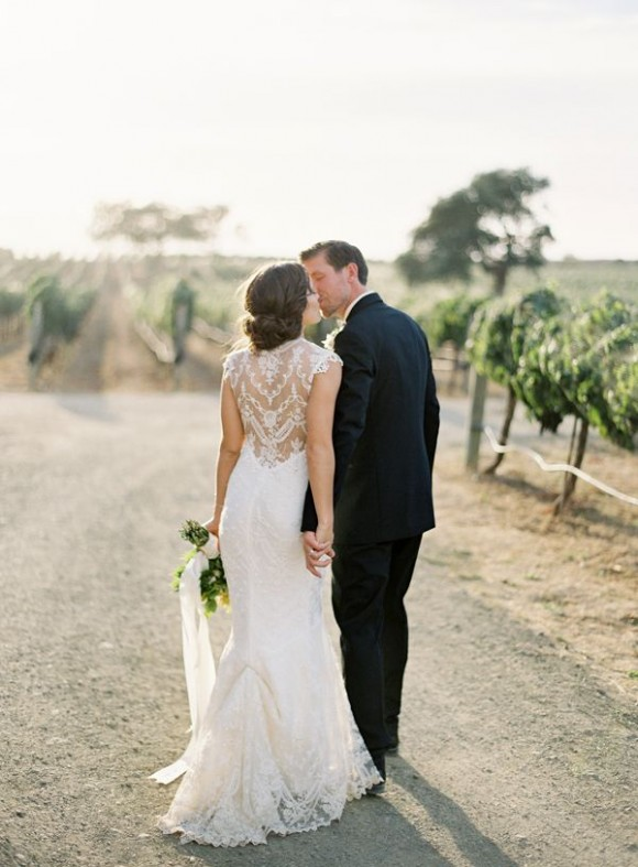 Source oncewed.com, Photography Jose Villa, Dress Claire Pettibone