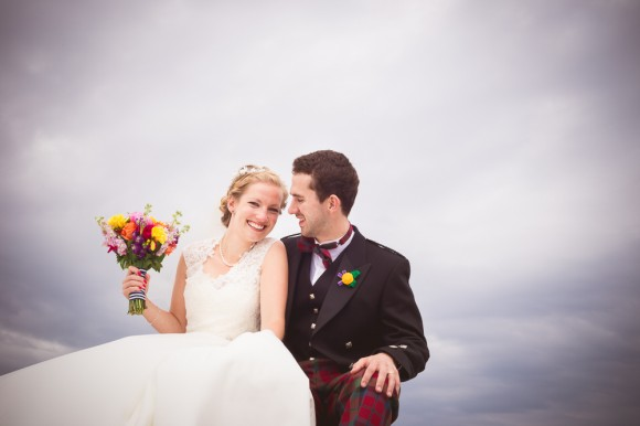 bonnie & bright. a colourful wedding at St Andrews – clair & nick