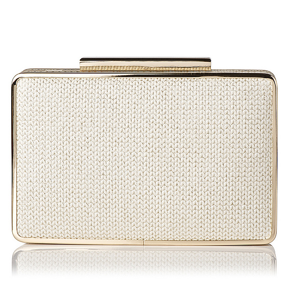 Nina Glitter Knit Box Clutch