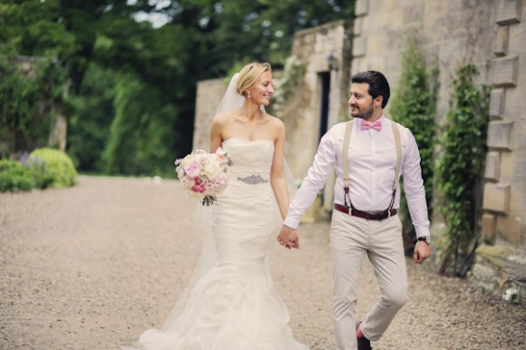 a romatic pastel wedding at Eshott Hall (c) Helen Russell Photography  (116)