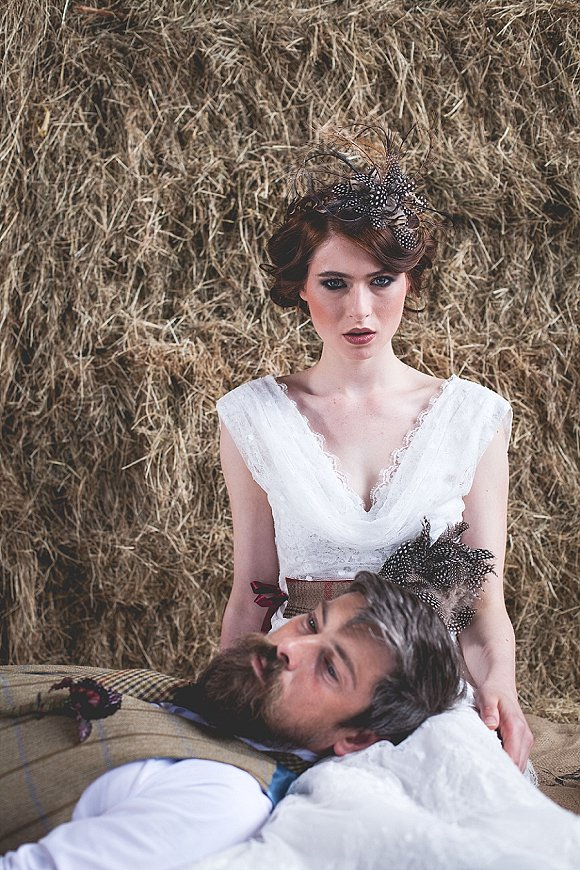 tweed & country styled bridal shoot at Owen House Wedding Barn (c)  Mr & Mrs W (10)
