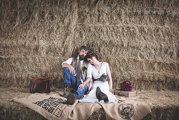 tweed & country styled bridal shoot at Owen House Wedding Barn (c)  Mr & Mrs W (11)