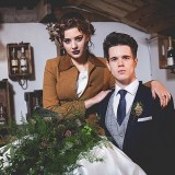 tweed & country styled bridal shoot at Owen House Wedding Barn (c)  Mr & Mrs W (17)