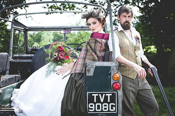 tweed & country. a dramatic bridal shoot in Cheshire