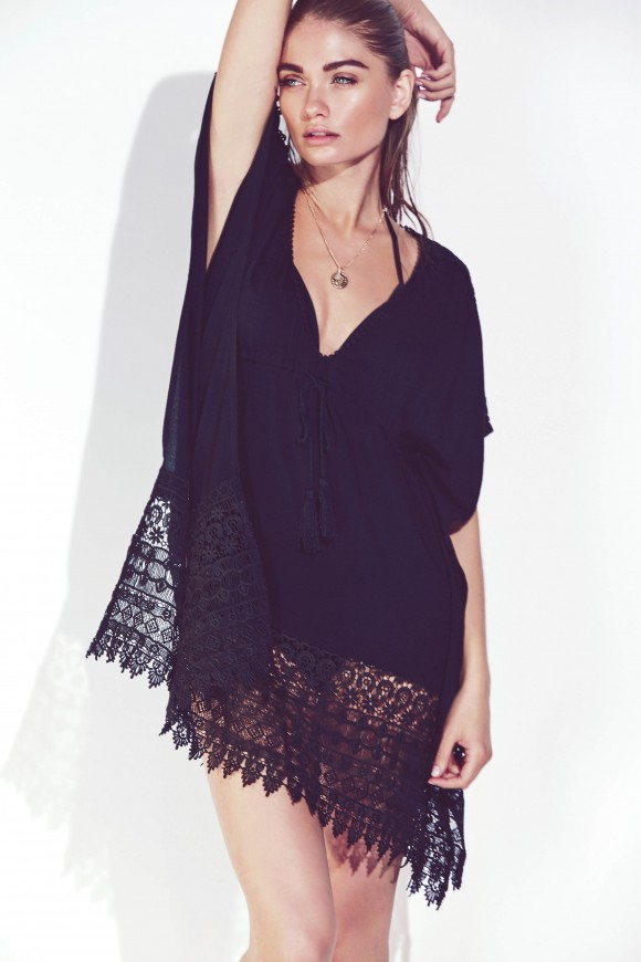 Black Crochet Cover Up