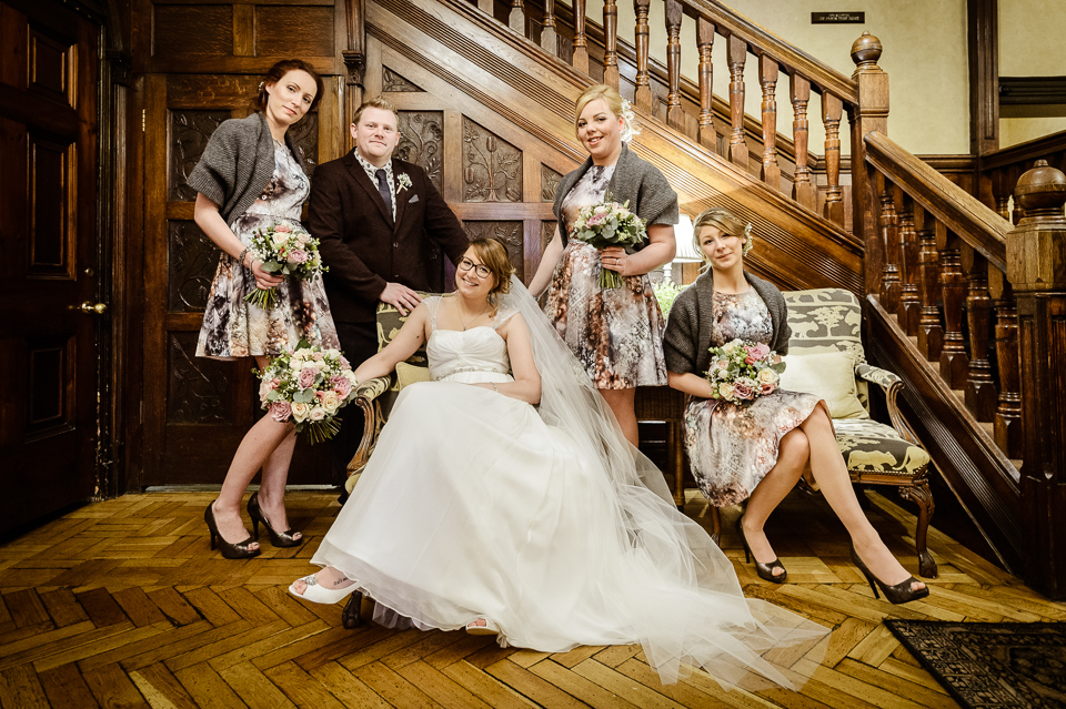 A Stylish And Quirky Wedding At Rowton Hall Hotel