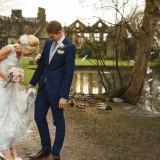 a pretty pink wedding at East Riddlesden Hall (c) Weddings by Smith  (27)