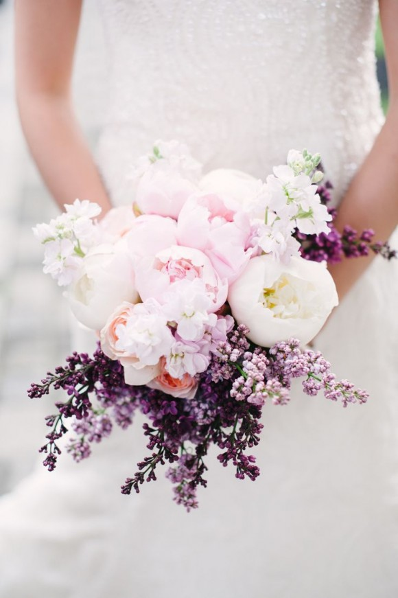 via Style Me Pretty, photography by  Brklyn View Photography, flowers by Blush Design NY