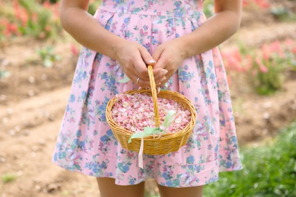ShropshirePetals.com Flower Girl Basket with Candyfloss from £11.50 per litre