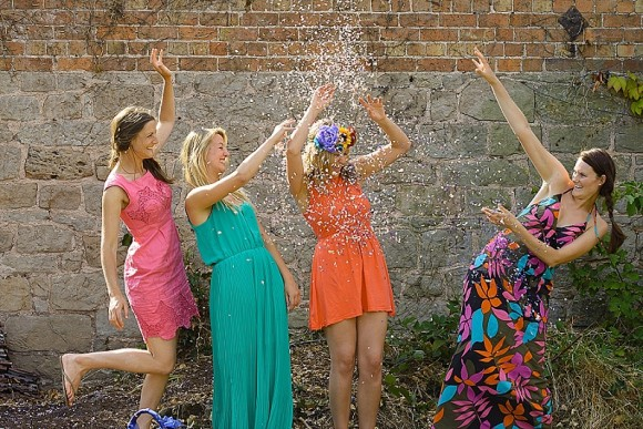 ShropshirePetals.com Girls playing with colourful confetti from £11.50 per litre (5)