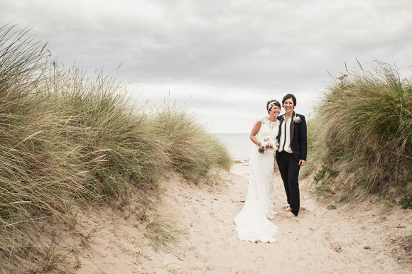 beside the sea. a pretty pastel wedding at newton hall, northumberland – michelle & nikki