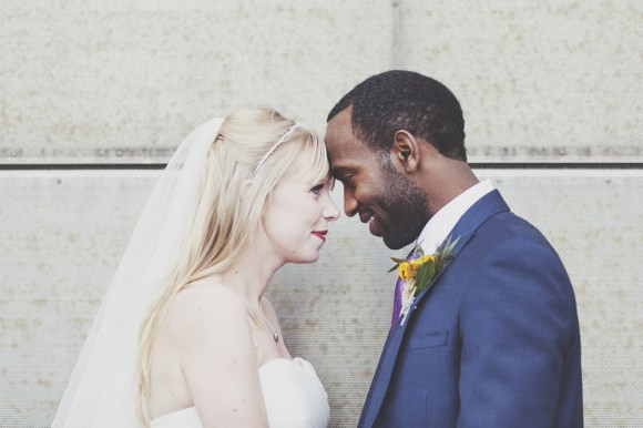 art felt. a colourful wedding celebration at manchester's media city – rachael & zariah