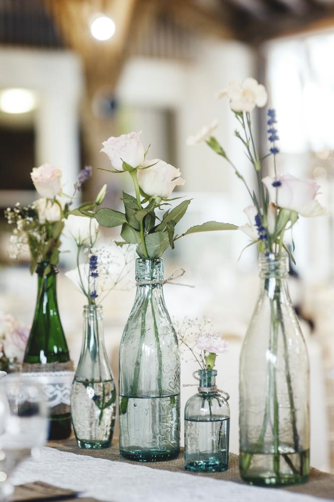 Pronovias for a pretty barn wedding in yorkshire for Pretty wedding table decorations