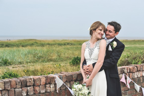 blue skies & bunting. jenny packham for a marquee wedding by the sea – jenny & tim
