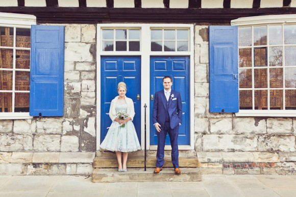rockin' love. a bride in blue for a pretty wedding in the historic city of york – kimberley & adam