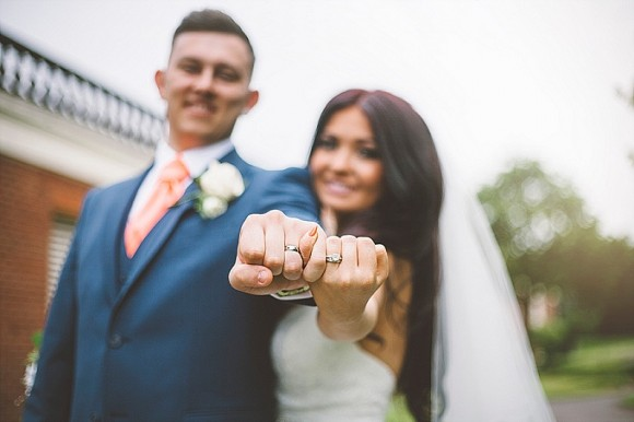 coral & lace. a  glam wedding with pops of peach on merseyside – emily & stephen
