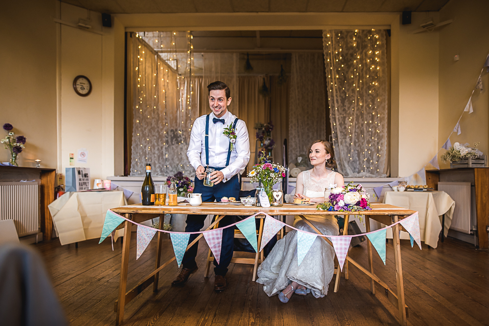 BudgetFriendly DIY amp Colourful Village Hall Wedding