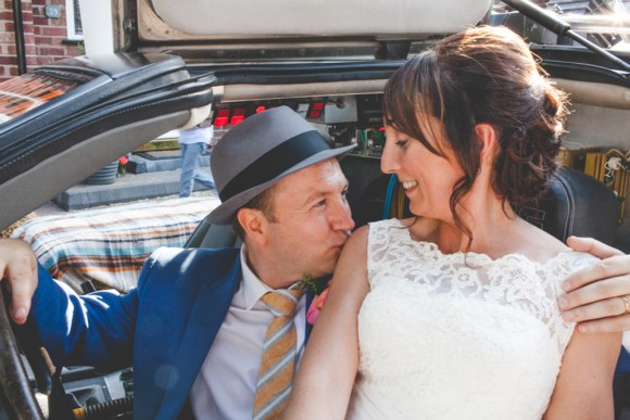 time travellers. justin alexander for a back to the future wedding in cheshire – lisa & david