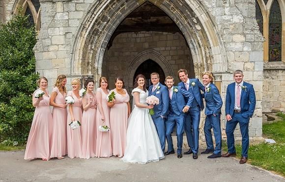 pretty in pink. an elegant wedding at rossington hall – amanda & howard