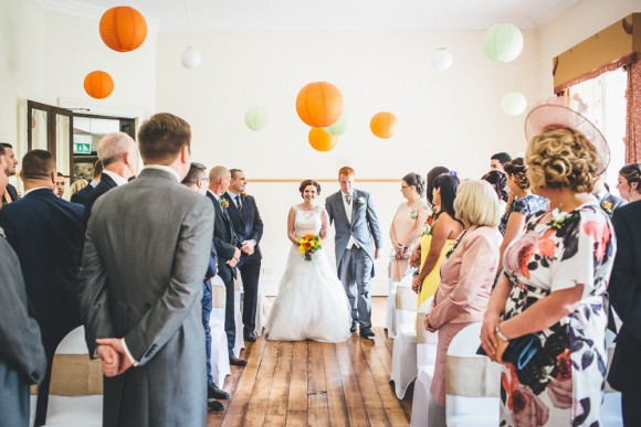 colour pops. a rustic wedding with vintage hints at trafford hall – sarah & daniel