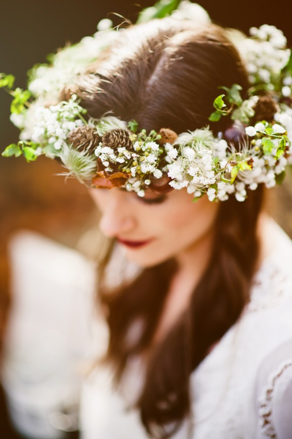 autumnal allure: a boho wedding shoot in sheffield's botanical gardens