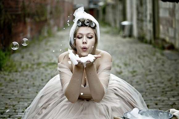 cobbles & rollers. a 'very lancashire' inspired bridal shoot