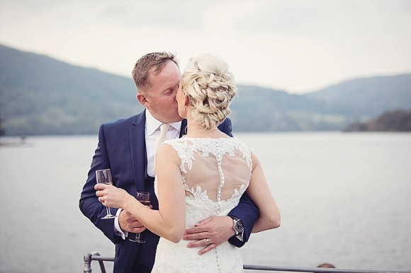 the love boat. justin alexander for a dreamy blush pink wedding in the lakes – tracy & carl