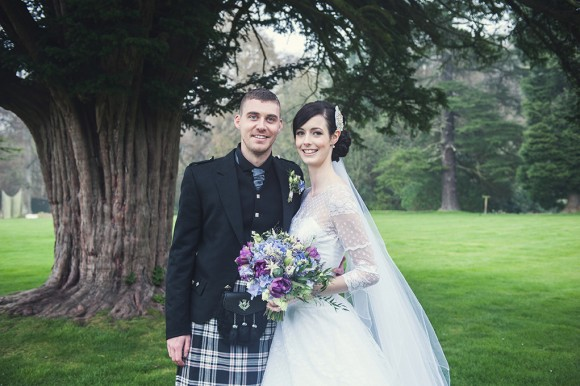 something old, something new. an heirloom dress for a romantic castle wedding in scotland – louise & duncan
