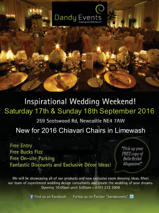 diary date: dandy events inspirational wedding weekend!