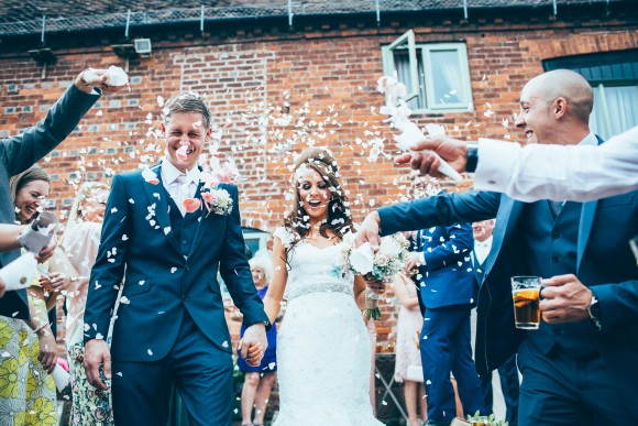 rustic glam. maggie sottero for a romantic wedding at curradine barns – claire & stephen