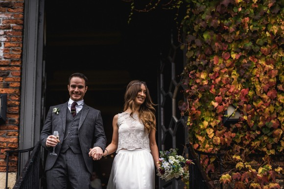 fairy lights & lace. A bespoke dress for an enchanting winter wedding in york – emma & matthew