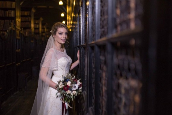 medieval magic: a styled wedding shoot at chetham's library, manchester